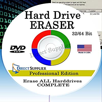 PROFESSIONAL HARD DRIVE ERASER 32/64Bit Professional Edition - Wipe your Hard Drive Securely for for ALL operating systems