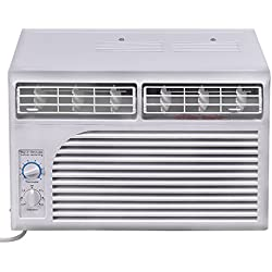 COSTWAY 5, 000 BTU 115V Air Conditioner Window-Mounted Mini-Compact with Mechanical Controls
