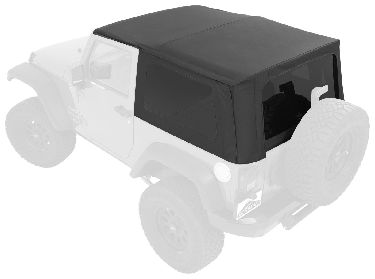 Pavement Ends by Bestop 51202-35 Black Diamond Replay Replacement Soft Top Tinted Windows; No Door Skins Included for 2007-2009 Jeep Wrangler 2-Door
