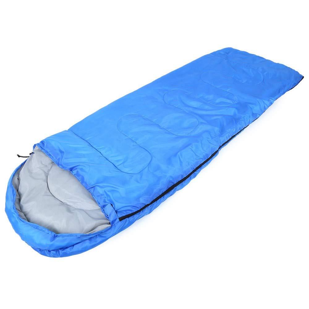 TONGSD Schnelle Aufblasbare Camping Lay Bag Mit Kapuze Baumwolle Für Kaltes Wetter Air-Sofa Outdoor Strand Luft-Bett Falten Schlaf Lazy Bag, Blau