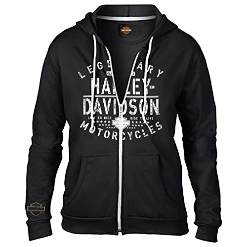 Harley Davidson Womens Zip Hooded Fleece