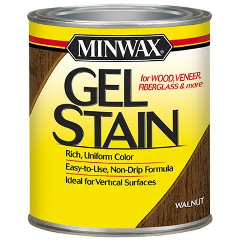 Minwax 260604444 Interior Wood Gel Stain, 1/2 pint, (Walnut Gel Stain)