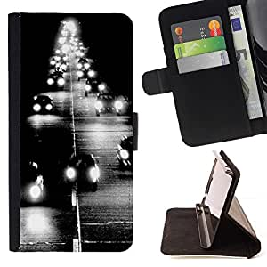 Momo Phone Case / Flip Funda de Cuero Case Cover - Faro Camino Negro negro impresiones - Samsung Galaxy S4 IV I9500