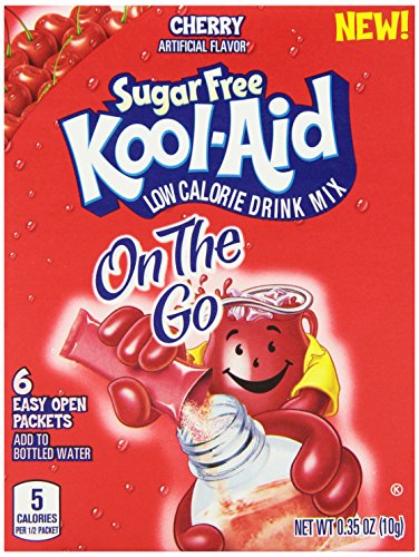 Kool-Aid Sugar Free On The Go Drink Mix, Cherry, .35 Ounce (Pack of 12)