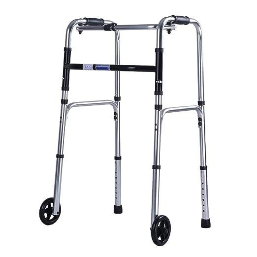 Andador plegable con bariátrica y 2 ruedas para mayores ...