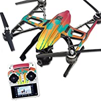 MightySkins Protective Vinyl Skin Decal for Yuneec Q500 & Q500+ Quadcopter Drone wrap cover sticker skins Sherbet Palms