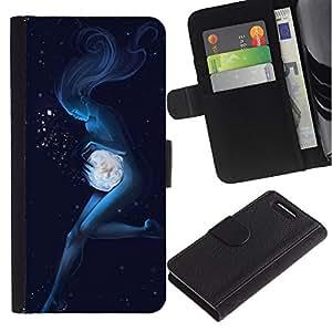For Sony Xperia Z1 Compact D5503 Case , Angel Woman Underwater Magic - la tarjeta de Crédito Slots PU Funda de cuero Monedero caso cubierta de piel