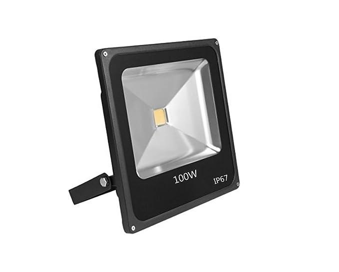 Foco Proyector LED 100 W super luminoso blanco cálido Exterior ...