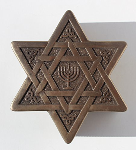 Star Of David With Menorah Jewelry Box 4 3/4 Inch long by Unknown (Image #4)