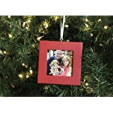 Picture Frame Ornament -Holly Berry Red