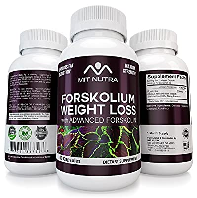 Forskolium - Best Forskolin For Weight Loss, Supplement Capsules, 100% Pure Extract, Best Diet Pill for Weight loss and Slender Looks for Women and Men by MIT NUTRA