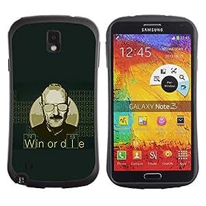 """Pulsar iFace Series Tpu silicona Carcasa Funda Case para Samsung Note 3 , Gane o muera Cita Hombre Vida motivación Éxito"""""""
