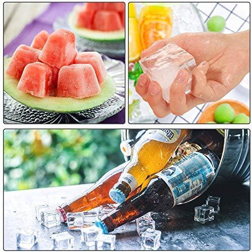 2 Stück Eiswürfelform silikon Eiswürfelbehälter Eiswürfel Silikonformen für Eiswürfel Schokolade Kindernahrung BPA frei, LFGB Zertifiziert Orange