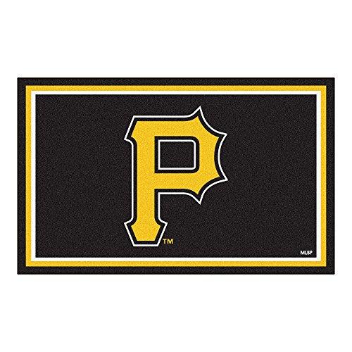 FANMATS MLB Pittsburgh Pirates Nylon Face 4X6 Plush Rug (Carpet Pirates Pittsburgh)
