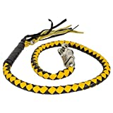 Dealer BIKER BLACK YELLOW 40'' LEATHER GET BACK WHIP MOTORCYCLE WHIP OLD SCHOOL