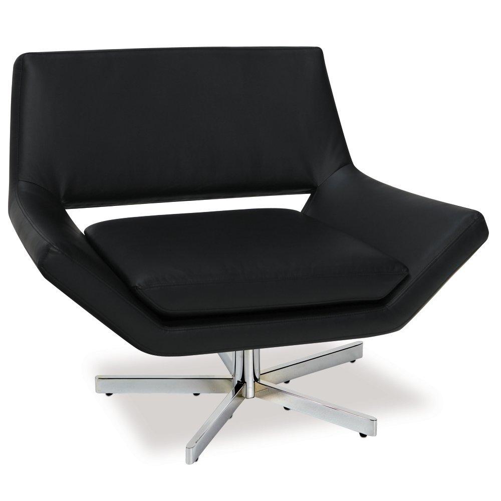 amazoncom ave six yield modern inch wide lounge chair in faux  - amazoncom ave six yield modern inch wide lounge chair in faux leatherwith chrome finish base white kitchen  dining