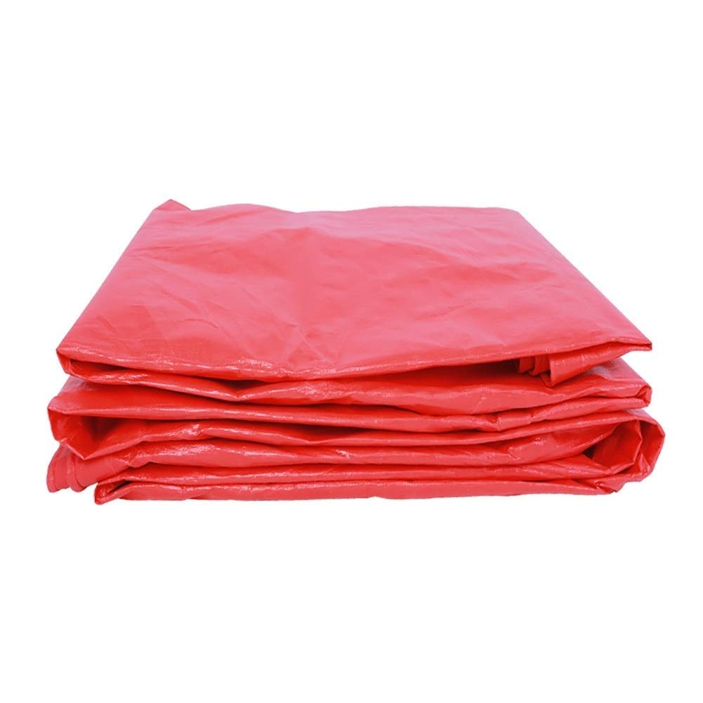 防水シート防水、多目的防水、防水日焼け止めトレーラーカバー、赤 FENGMIMG (色 : 赤, サイズ さいず : 4x6M) B07QQHSBM3 赤 4x6M