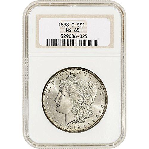 1898 O US Morgan Silver Dollar Non Edge-View Holder $1 MS65 NGC