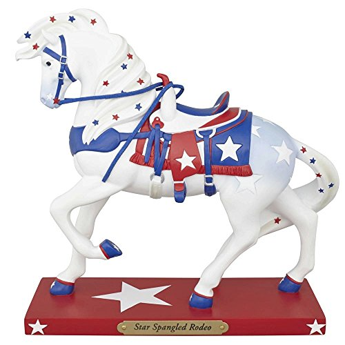 (The Trail of Painted Ponies Star Spangled Rodeo Patriotic Horse Figurine)