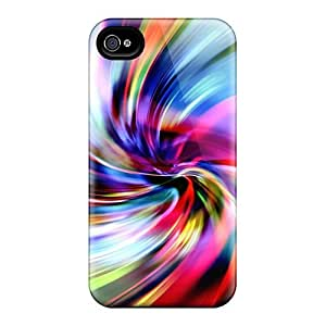 Iphone 4/4s Case Cover - Slim Fit Tpu Protector Shock Absorbent Case (swirl) by Maris's Diary