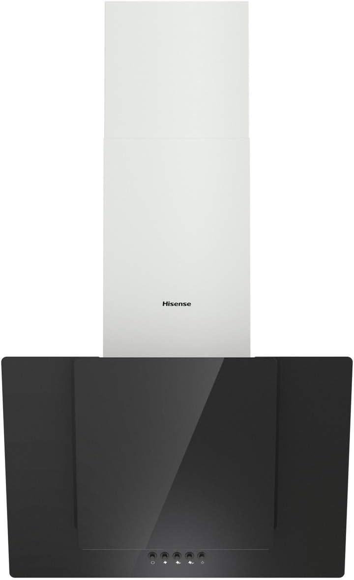 Hisense CH6IN6BXBG - Campana Decorativa 60Cm, Capacidad de Succión de 650 m³/h, Iluminación LED, Filtro de aluminio de Fácil Mantenimiento