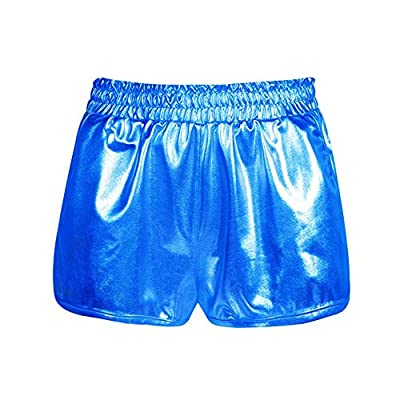 Meikosks Ladies Shiny Metallic Pants with Pockets Leggings Shorts High Waist Yoga Sport Pants at  Women's Clothing store