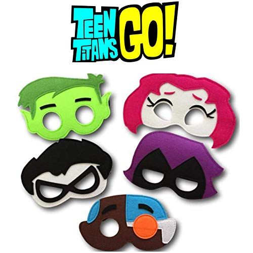 Teen Titans Go! Mask | 5 Pcs | Children Birthday Party Costume Decoration -