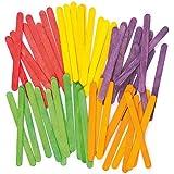 Bastoncini lecca-lecca colorati in legno per bambini (confezione da 200)