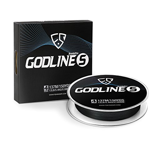 FISHINGSIR Godline S Improved Braided Fishing Line Abrasion Resistant SuperLine,30% Thinner Smoother Stronger, 0.06mm-0.35mm,7LB-65LB