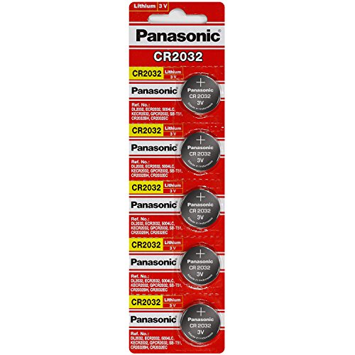 Panasonic Cr2032 3 Volt Lithium Coin Battery 20 Batteries