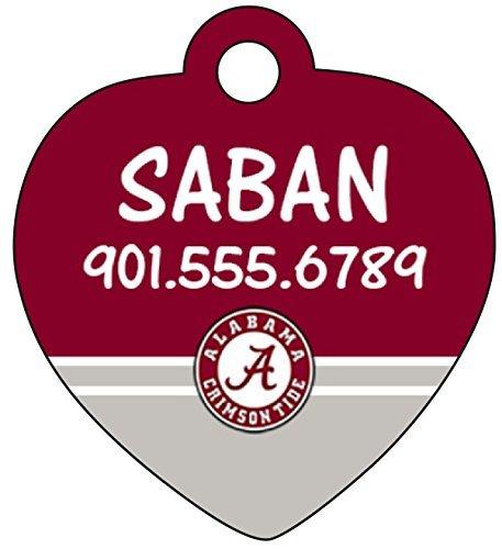 Alabama Crimson Tide, gatto, cane Pet-Targhetta personalizzabile con nome e numero &