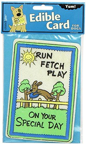 Crunchkins Edible Crunch Card, Run, Fetch, Play, Special Day (Edible Card)