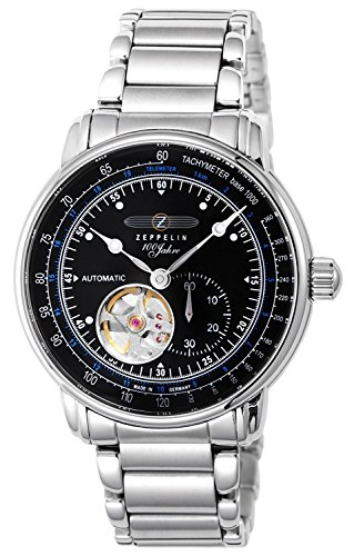 ZEPPELIN [300 limited edition model] Watch Special Edition 100 years Zeppelin black dial automatic winding back cover skeleton 7662-U2 Men's [regular imported goods]
