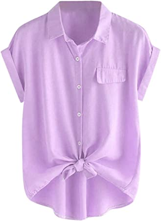 Jfhrfged - Blusa de Mujer con Cuello de Corea y puños ...
