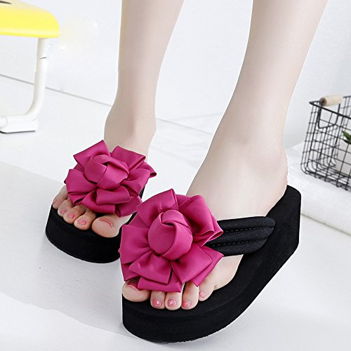 Fei Fei FEI Chanclas Pantuflas deslizadizas de verano femenino Sandalias gruesas Zapatillas de playa de moda por 18-40 años Antidérapant (Color : 1005, Tamaño : 39) 1005