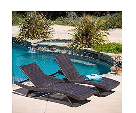 christopher knight home toscana outdoor brown wicker lounge chairs set of 2
