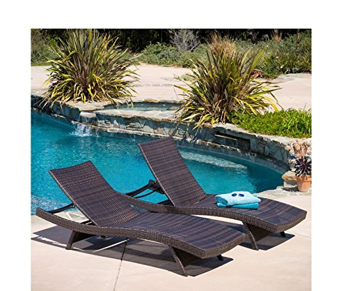 Christopher Knight Home Toscana Outdoor Brown Wicker Lounge Chairs (Set (Adjustable Resin)