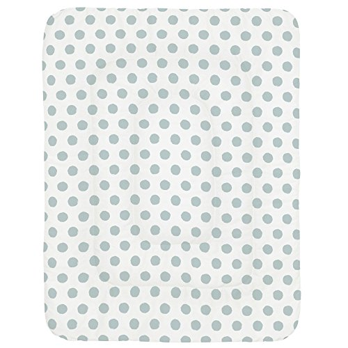 Carousel Designs Robins Egg Blue Brush Dots Crib Comforter ()