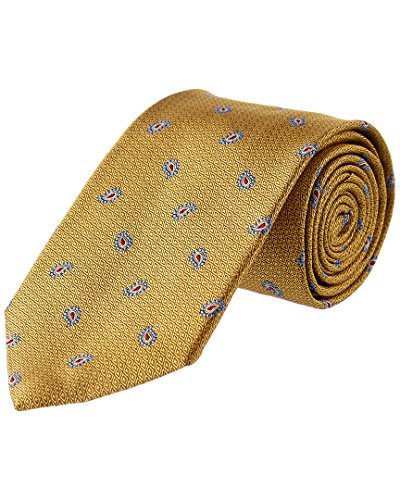 Brooks Brothers Mens Yellow Pine Silk Tie Brooks Brothers Silk Necktie