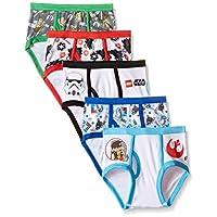 Braguitas de ropa interior Lego Star Wars de 5 unidades de Star Wars para niños pequeños, Múltiples, 4