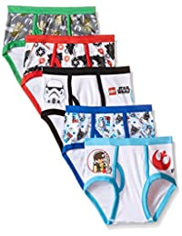 Star Wars Boys Little Boys' Lego 5-Pack Underwear Brief