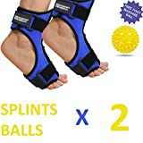 Pack of 2 Plantar Fasciitis Night Stretching Splint, Plantar Fasciitis Arch Support for Better Stability, Plantar Fascia Night Splint, Relief from Achilles Tendonitis, Arch Foot and Heel Pain - Blue