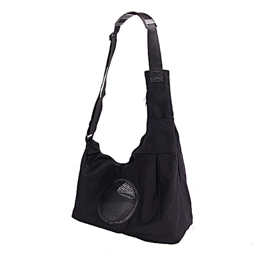 BLACK M BLACK M Pet Out Portable Car Backpack Dog Bag Cat Bag (color   Black, Size   M)