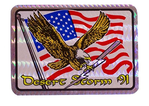 (ALBATROS (6 Pack) Desert Storm in91 Flag Reflective Decal Bumper Sticker for Home and Parades, Official Party, All Weather Indoors Outdoors)