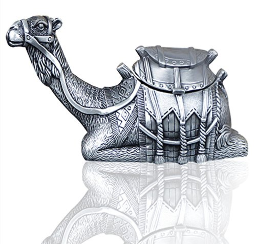 (Infinite U Antique Silver Sitting Camel Shape Small Metal Trinket Jewellery Box Upscale Gifts Home Decoration)