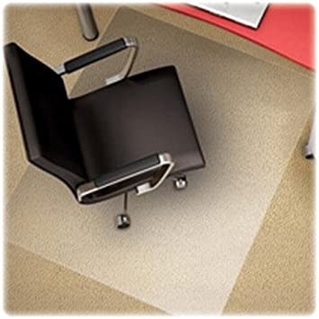 46-Inch x60-Inch Rectangle Clear Studded Deflecto CM14443F Med Pile Chairmat