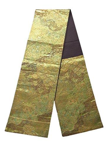 合併以下熱リサイクル 袋帯  霞取りに古典模様 正絹 六通
