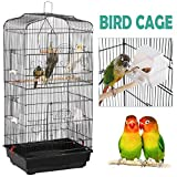 Yaheetech 36-inch Portable Hanging Medium Flight Bird Cage for Small Parrots Cockatiels Sun Quaker Parakeets Green Cheek Conures Parrotlets Finches Canary Budgies Lovebirds Travel Bird Cage, Black Larger Image