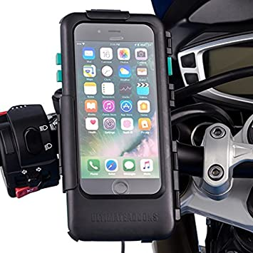best sneakers 90704 003d8 Ultimateaddons iPhone 7 Plus Tough Case + Quick Release 21-30mm Motorcycle  Mount Attachment