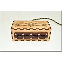 Handmade Authentic Wooden 4 ports USB 2.0 HUB Spliter with engraved vintage ornaments. Steampunk gadget